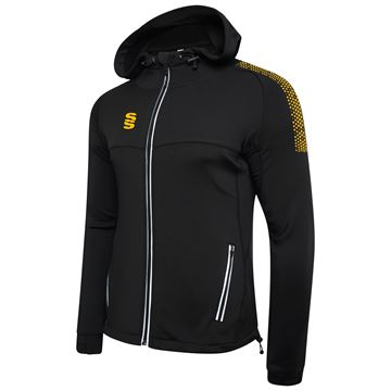 Picture of Dual Full Zip Hoody - Black/Amber