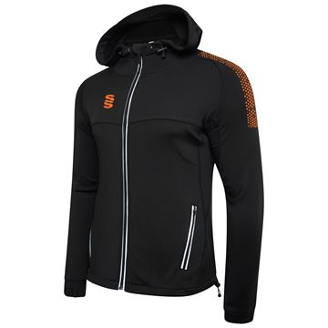 Afbeeldingen van Dual Full Zip Hoody - Black/Orange