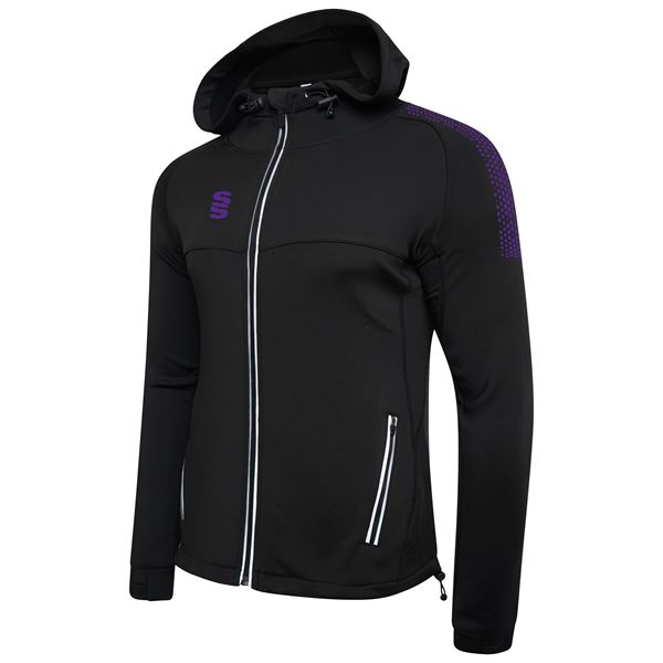 Picture of Dual Full Zip Hoody - Black/Purple