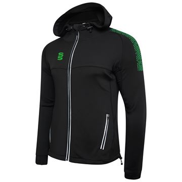 Picture of Dual Full Zip Hoody - Black/Emerald