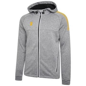 Picture of Dual Full Zip Hoody - Grey Marl/Amber