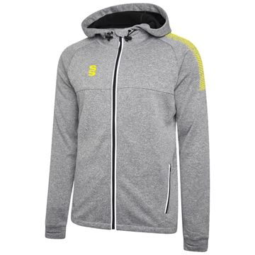 Bild von Dual Full Zip Hoody - Grey Marl/Yellow