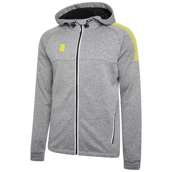 Picture of Dual Full Zip Hoody - Grey Marl/Yellow