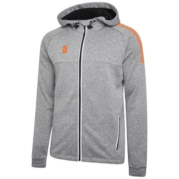 Bild von Dual Full Zip Hoody - Grey Marl/Orange