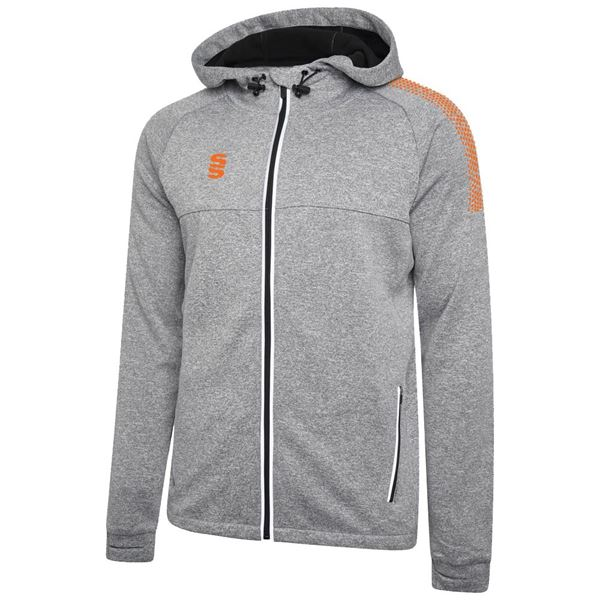 Image sur Dual Full Zip Hoody - Grey Marl/Orange