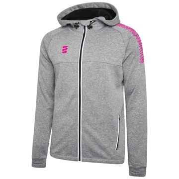 Picture of Dual Full Zip Hoody - Grey Marl/Pink