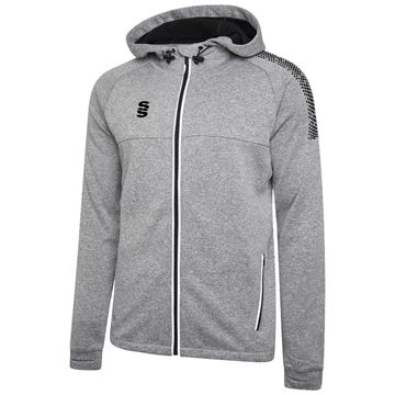 Picture of Dual Full Zip Hoody - Grey Marl/Black