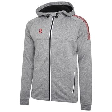 Picture of Dual Full Zip Hoody - Grey Marl/Maroon