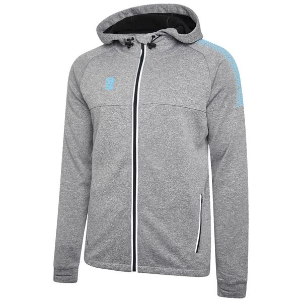 Picture of Dual Full Zip Hoody - Grey Marl/Sky