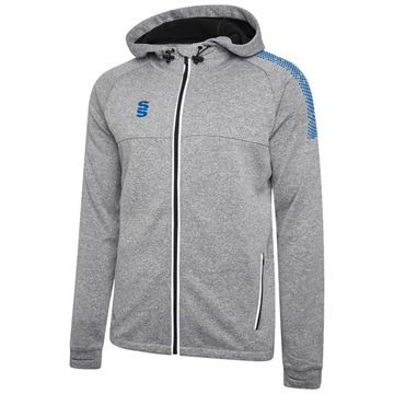 Image de Dual Full Zip Hoody - Grey Marl/Royal