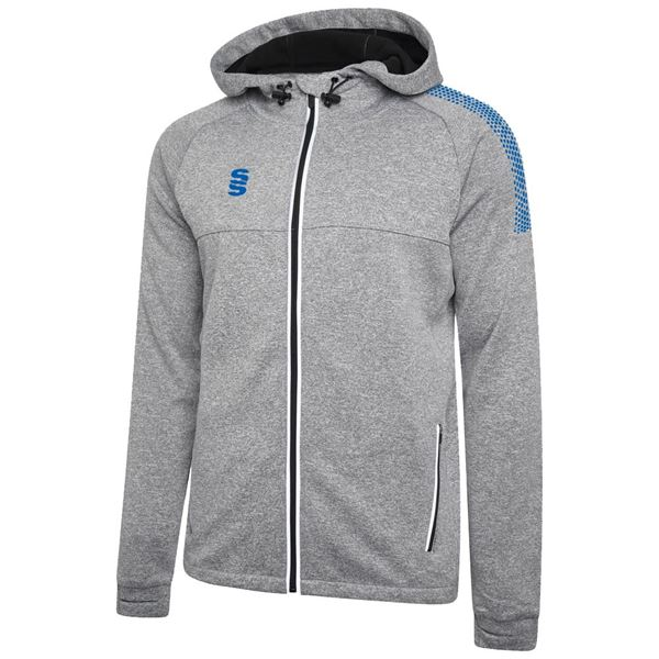Picture of Dual Full Zip Hoody - Grey Marl/Royal