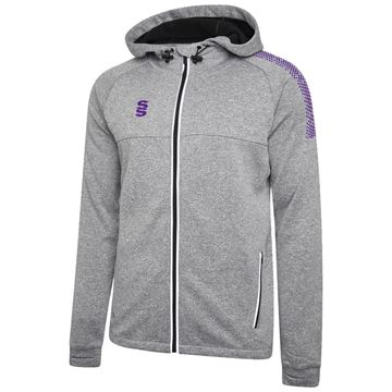 Bild von Dual Full Zip Hoody - Grey Marl/Purple