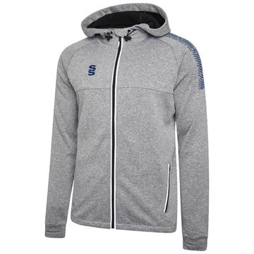 Picture of Dual Full Zip Hoody - Grey Marl/Navy