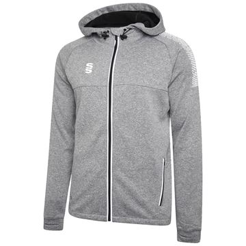 Picture of Dual Full Zip Hoody - Grey Marl/White