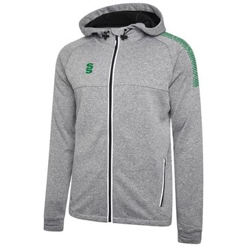 Bild von Dual Full Zip Hoody - Grey Marl/Bottle