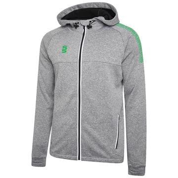Image de Dual Full Zip Hoody - Grey Marl/Emerald