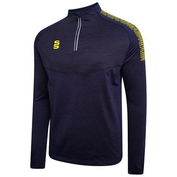 Image de 1/4 Zip Dual Performance Top - Navy/Yellow