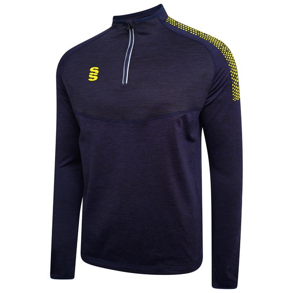 Picture of 1/4 Zip Dual Performance Top - Navy/Yellow