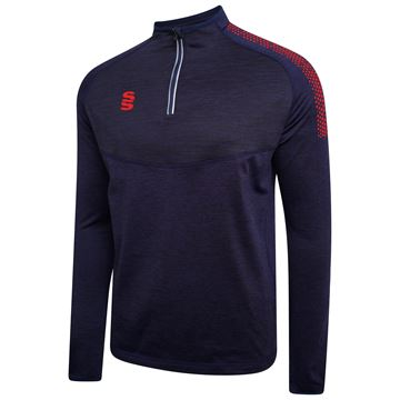 Afbeeldingen van 1/4 Zip Dual Performance Top - Navy/Red
