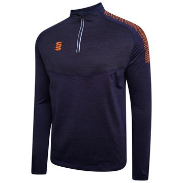 Afbeeldingen van 1/4 Zip Dual Performance Top - Navy/Orange