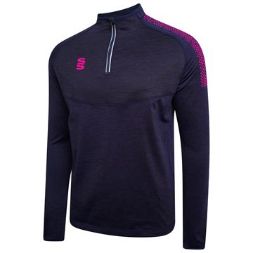Afbeeldingen van 1/4 Zip Dual Performance Top - Navy/Pink