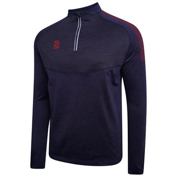 Afbeeldingen van 1/4 Zip Dual Performance Top - Navy/Maroon