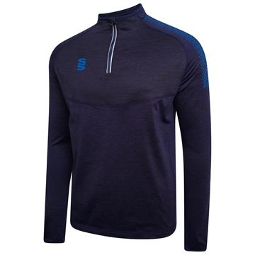 Afbeeldingen van 1/4 Zip Dual Performance Top - Navy/Royal
