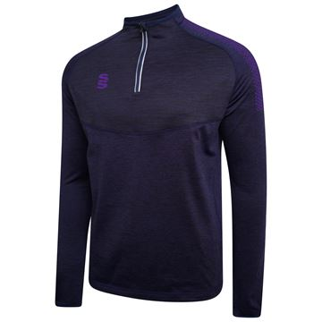 Image de 1/4 Zip Dual Performance Top - Navy/Purple