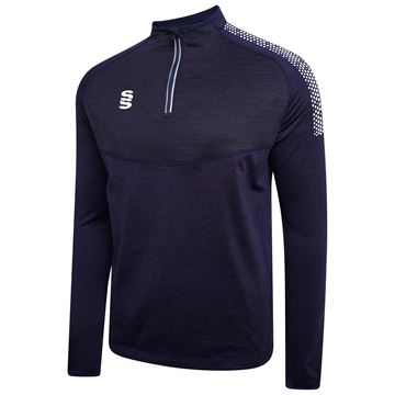 Bild von 1/4 Zip Dual Performance Top - Navy/White