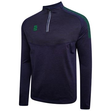 Image de 1/4 Zip Dual Performance Top - Navy/Bottle
