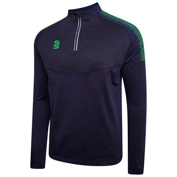 Image de 1/4 Zip Dual Performance Top - Navy/Emerald