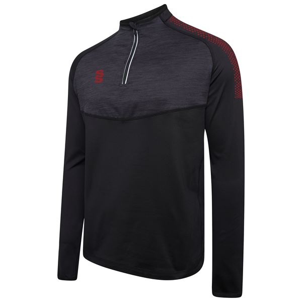Picture of 1/4 Zip Dual Performance Top - Black/Maroon
