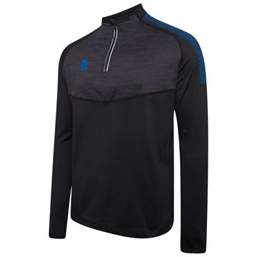 Image de 1/4 Zip Dual Performance Top - Black/Royal