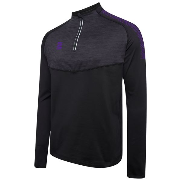 Imagen de 1/4 Zip Dual Performance Top - Black/Purple