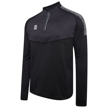 Imagen de 1/4 Zip Dual Performance Top - Black/Silver