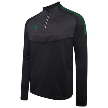 Picture of 1/4 Zip Dual Performance Top - Black/Bottle