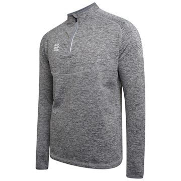Picture of 1/4 Zip Dual Performance Top - Silver Marl