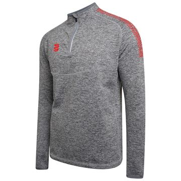 Imagen de 1/4 Zip Dual Performance Top - Silver Marl/Red
