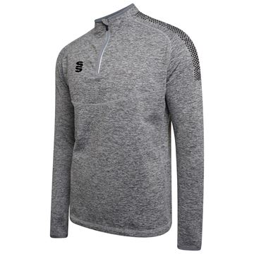 Afbeeldingen van 1/4 Zip Dual Performance Top - Silver Marl/Black