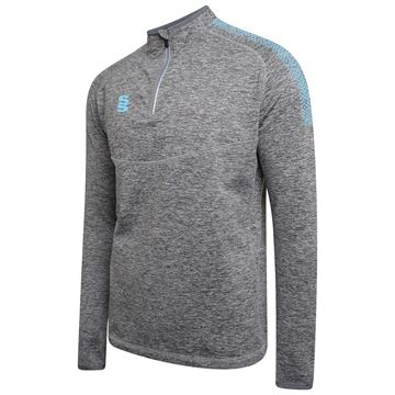 Picture of 1/4 Zip Dual Performance Top - Silver Marl/Sky