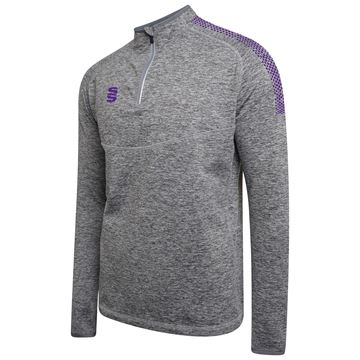 Afbeeldingen van 1/4 Zip Dual Performance Top - Silver Marl/Purple