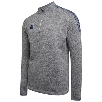 Afbeeldingen van 1/4 Zip Dual Performance Top - Silver Marl/Navy