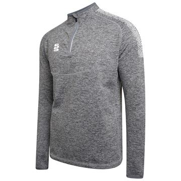 Bild von 1/4 Zip Dual Performance Top - Silver Marl/White