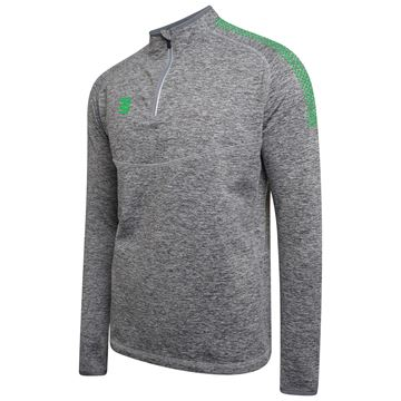 Picture of 1/4 Zip Dual Performance Top - Silver Marl/Emerald