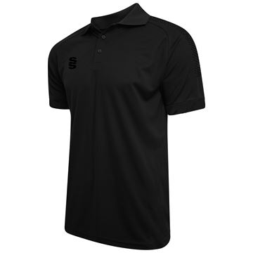Picture of Dual Solid Colour Polo - Black