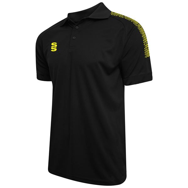 Afbeelding van Dual Solid Colour Polo - Black/Yellow