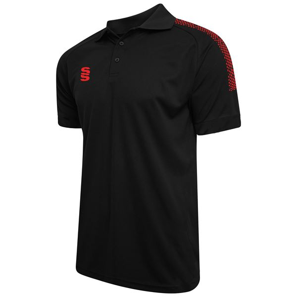 Picture of Dual Solid Colour Polo - Black/Red