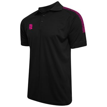 Picture of Dual Solid Colour Polo - Black/Pink