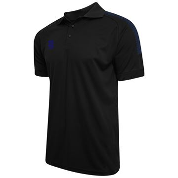 Picture of Dual Solid Colour Polo - Black/Navy
