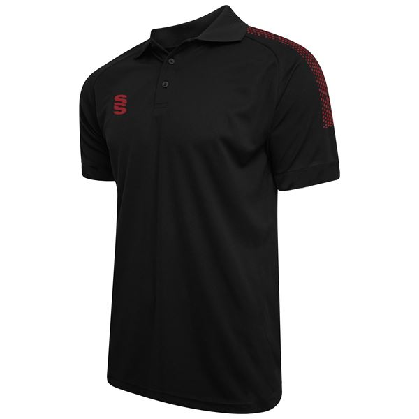 Picture of Dual Solid Colour Polo - Black/Maroon